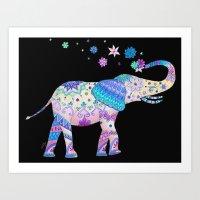 Henna Elephant Art Print