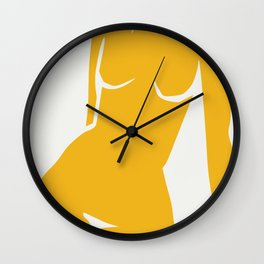 Cubism in nude Wall Clock