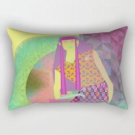 Neon girl Rectangular Pillow