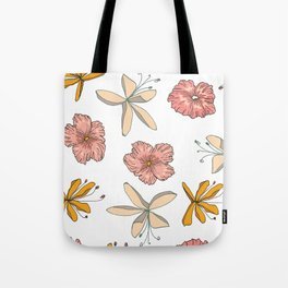 Palm Flowers Tote Bag