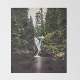 Pure Water - Landscape and Nature Photography Throw Blanket