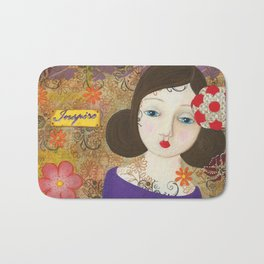 Inspire, Mixed Media Artwork Bath Mat