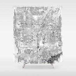 Las Vegas White Map Shower Curtain