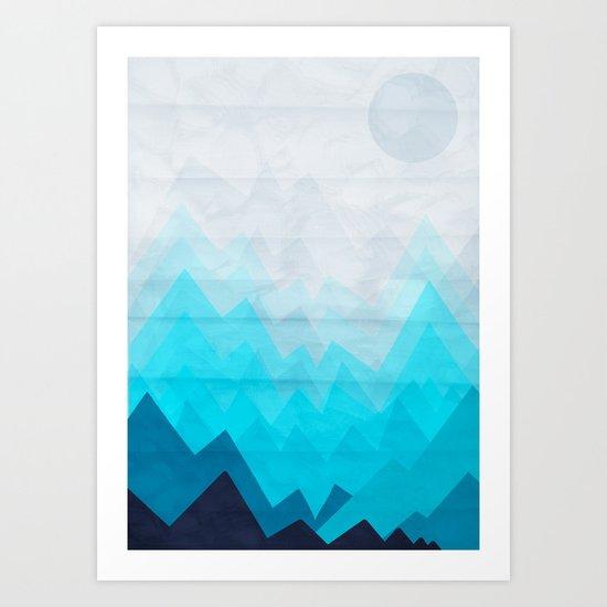 Ice Mounts Art Print