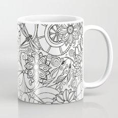 Koi Pond Coloring Page Mug