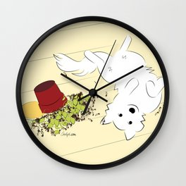 Great Pyrenees Goes Spread Eagle Wall Clock