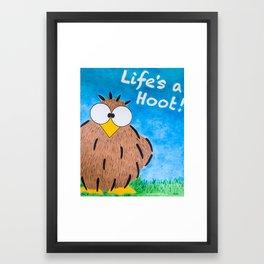 Life's a Hoot! Owl Canvas Art & Print Framed Art Print