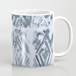 Simply Ikat Ink in Indigo Blue on Sky Blue Coffee Mug