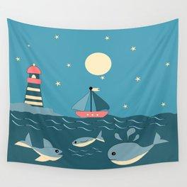 children's nautical design Wall Tapestry