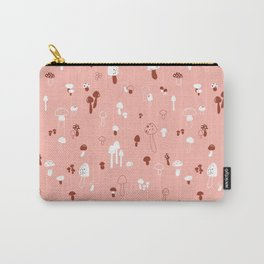 Autumn Mushrooms Pale Rose Carry-All Pouch