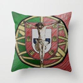 Jesus salvador de Portugal Throw Pillow