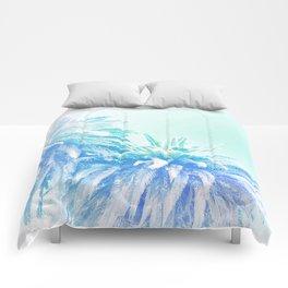 Dreamy and Fresh Palm Blues - Blue and Aqua Comforters