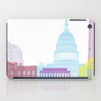 washington dc iPad Cases featuring Washington DC skyline pop by Paulrommer