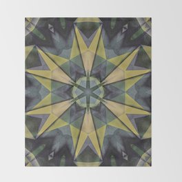 mandala shooter Throw Blanket