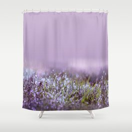 Morning dew on grass Shower Curtain