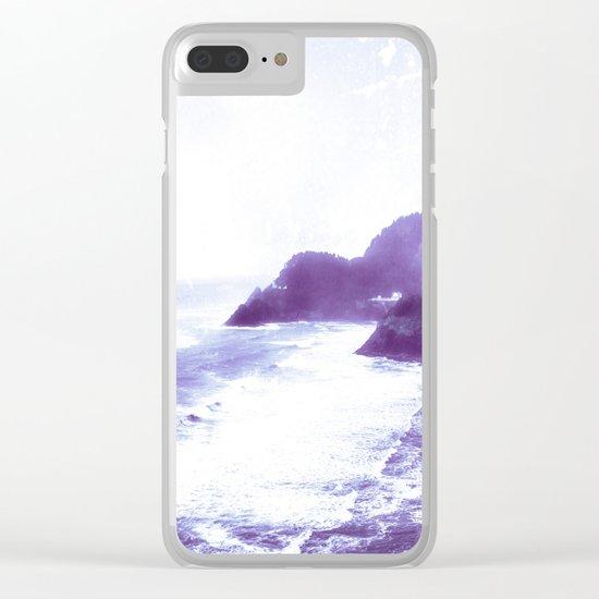 Vintage Coastal Sea Clear iPhone Case