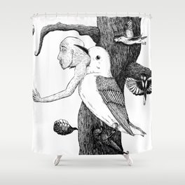 Fragility, Inside out Shower Curtain