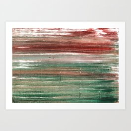 Axolotl abstract watercolor Art Print