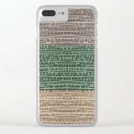 Vintage Wallpaper Design Clear iPhone Case