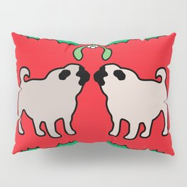 christmas pugs and kisses Pillow Sham