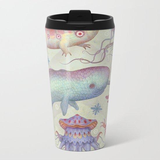 Creatures of the Deep Sea Metal Travel Mug