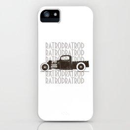 Rat Rod Hot Rod Vintage iPhone Case