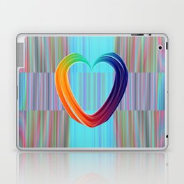 Fractal Art- Pattern Art- Heart Art- Blue Hearts-Pixxie Stixx- LGBT Art- Love- Healing Energy Art Laptop & iPad Skin