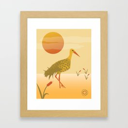 Pineapple Crane Framed Art Print