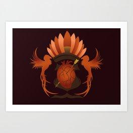 Quetzalli's Heart Art Print