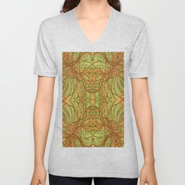 The Golden Brocade  Unisex V-Neck