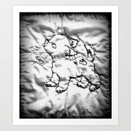 Quilted Pup Art Print