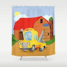 TOW TRUCK (GROUND VEHICLES) Shower Curtain