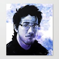 markiplier Canvas Prints featuring Markiplier by RootisTabootus