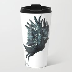 Crow Taking Off Metal Travel Mug