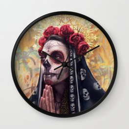 """Katrina"" - Skull girl Wall Clock"