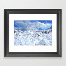 Approaching the Snowy Ruins Framed Art Print