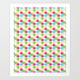 15 Hexagon Arrangement Art Print