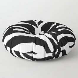Black and white Zebra Stripes Design Floor Pillow