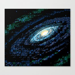 SWIRLING GALAXY Canvas Print