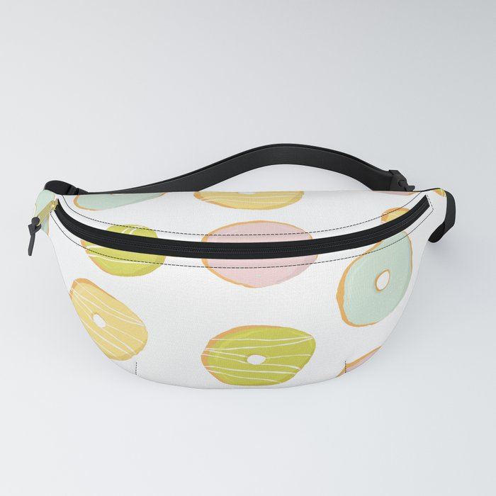 Sweet and cute donuts in light colors Fanny Pack