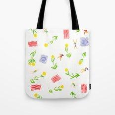Orange Bloom Tote Bag