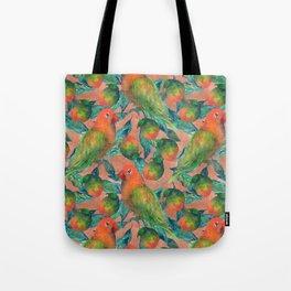 Mango Lovebird Tote Bag