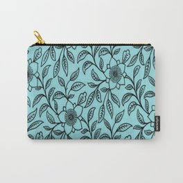 Vintage Lace Floral Island Paradise Carry-All Pouch