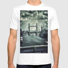 London Bridge MEDIUM Mens Fitted Tee White