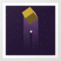 fez Art Prints featuring -Fez Beam me up- by MREdesign