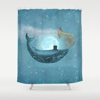 cloud Shower Curtains featuring Cloud Maker  by Terry Fan