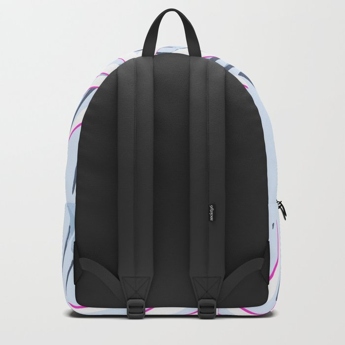 Elegant Tropical Blue Banana Leaves Design Backpack