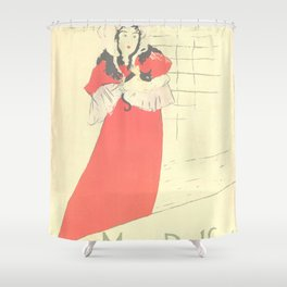 """Henri de Toulouse-Lautrec """"May Belfort"""" Shower Curtain"""