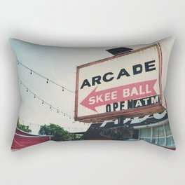 this way to the arcade ...  Rectangular Pillow