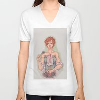 vogue V-neck T-shirts featuring Vogue by aspiin